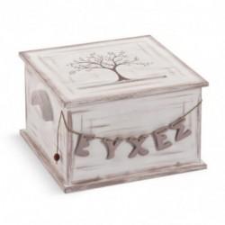 Ξύλινο τετράγωνο κουτί...